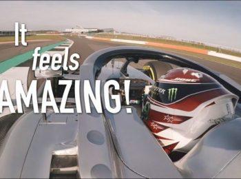 Cuộc đua đầu tiên của Lewis Hamilton vào năm 2019 Xe Mercedes F1!